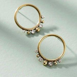 Anthropologie Globetrotter Hooped Post Earrings